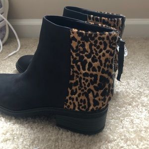 **Brand New with Tags** Sperry Leopard Ankle Boots